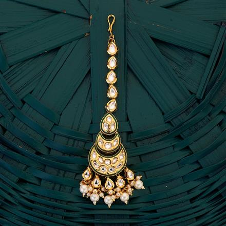 300694 Kundan Chand Tikka with gold plating