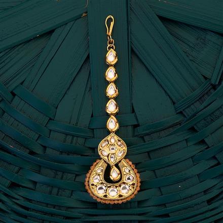 300707 Kundan Chand Tikka with gold plating