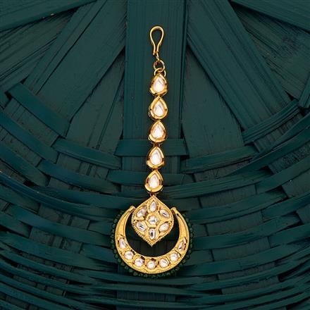 300708 Kundan Chand Tikka with gold plating