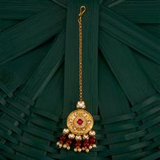 300760 Kundan Classic Tikka With Gold Plating