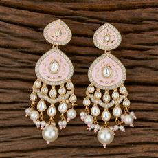 300772 Kundan Classic Earring With Gold Plating