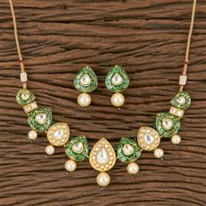 300790 Kundan Classic Necklace With Gold Plating
