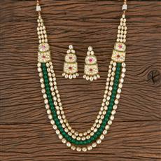 300796 Kundan Long Necklace With Gold Plating
