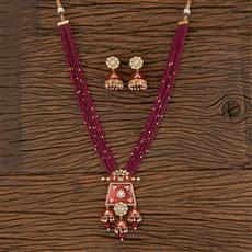 300806 Kundan Mala Necklace With Gold Plating