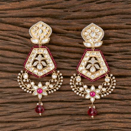 300824 Kundan Classic Earring With Gold Plating