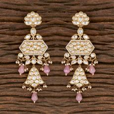 300826 Kundan Classic Earring With Gold Plating