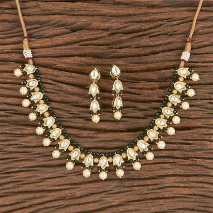 300833 Kundan Delicate Necklace With Gold Plating
