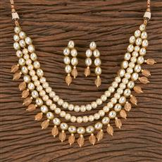 300839 Kundan Mala Necklace With Gold Plating