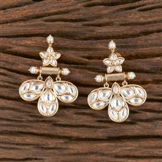 300864 Kundan Classic Earring With Gold Plating