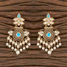 300868 Kundan Classic Earring With Gold Plating