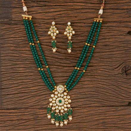 300871 Kundan Long Necklace With Gold Plating