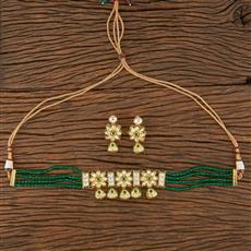300874 Kundan Mala Necklace With Gold Plating