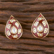 300878 Kundan Tops With Gold Plating