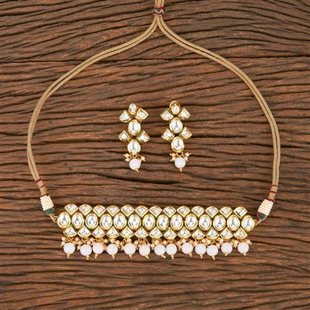 300880 Kundan Choker Necklace With Gold Plating