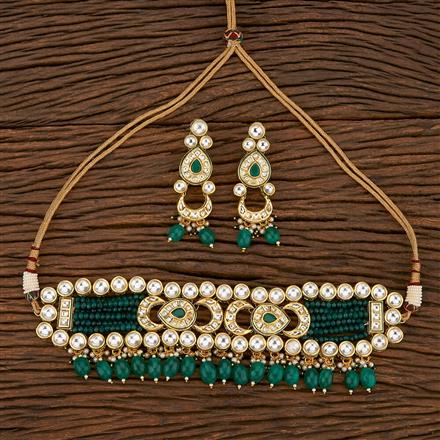 300900 Kundan Choker Necklace With Gold Plating
