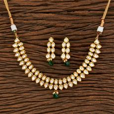 300957 Kundan Classic Necklace With Gold Plating
