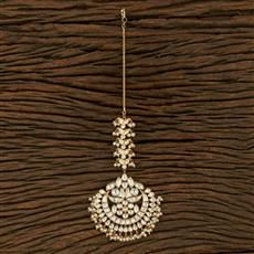 300978 Kundan Chand Tikka With Gold Plating