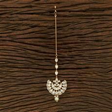 300991 Kundan Chand Tikka With Gold Plating