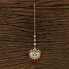 300992 Kundan Chand Tikka With Gold Plating