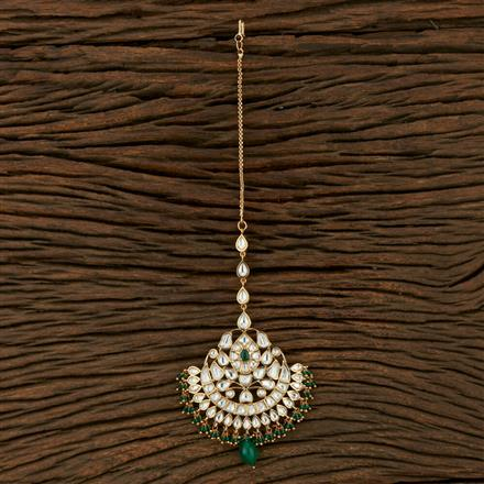 300993 Kundan Chand Tikka With Gold Plating