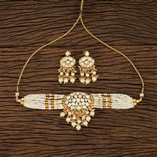 301045 Kundan Choker Necklace With Gold Plating