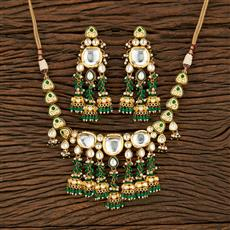 301054 Kundan Classic Necklace With Gold Plating