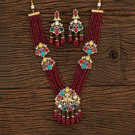 301090 Designer Peacock Pendant Set With Gold Plating