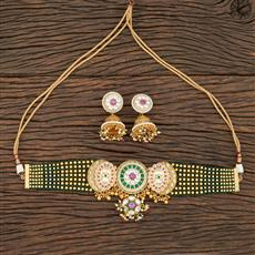301148 Kundan Mala Necklace With Gold Plating