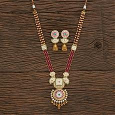 301149 Kundan Mala Necklace With Gold Plating