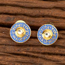 350019 Kundan Tops with gold plating