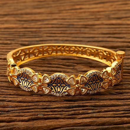 350041 Kundan Classic Kada with gold plating