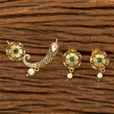 350127 Kundan Classic Mangalsutra with gold plating