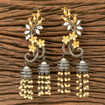 350186 Designer Classic Earring with black plating