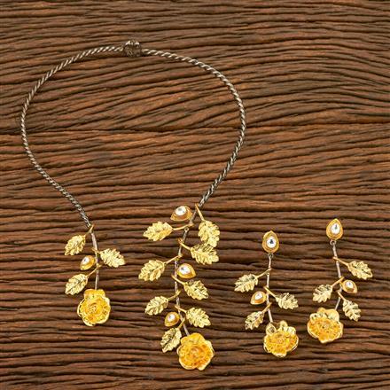 350204 Designer Trendy Necklace with black plating