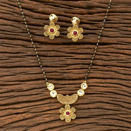 350209 Kundan Classic Mangalsutra with gold plating