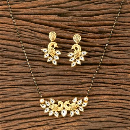 350210 Kundan Classic Mangalsutra with gold plating