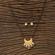 350261 Kundan Classic Mangalsutra With Gold Plating