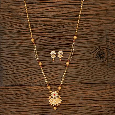 350266 Kundan Mala Necklace With Gold Plating