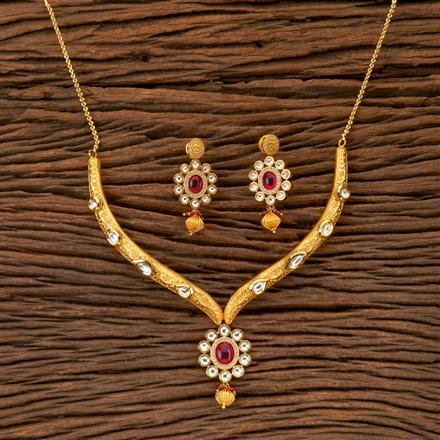 350282 Kundan Classic Necklace With Gold Plating