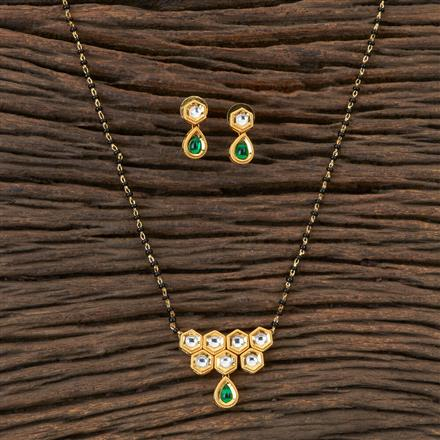 350299 Kundan Classic Mangalsutra with Gold Plating