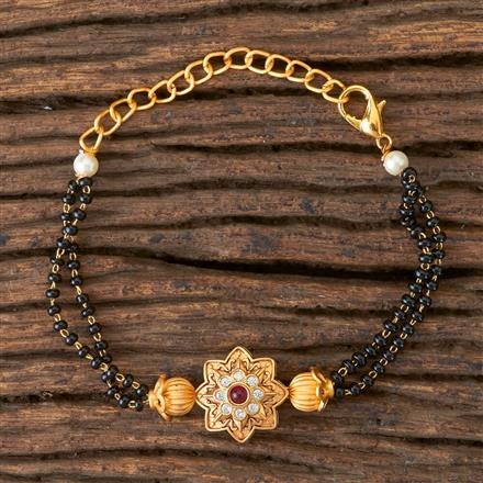350304 Kundan Classic Bracelet with Gold Plating