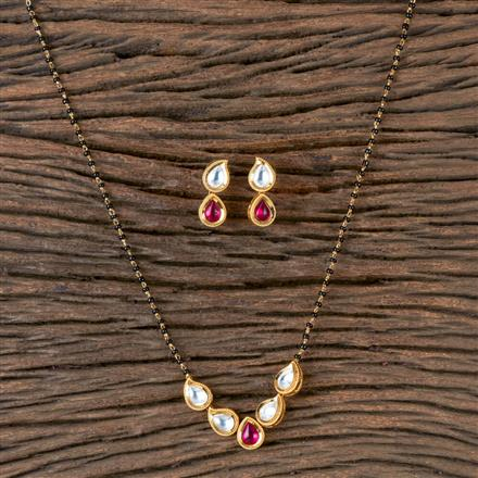 350307 Kundan Classic Mangalsutra with Gold Plating