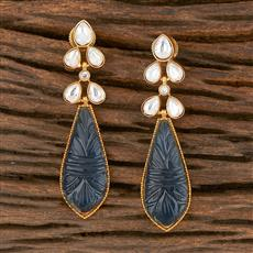 350370 Kundan Classic Earring With Gold Plating