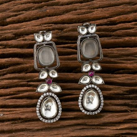 350404 Designer Classic Earring With Black Plating