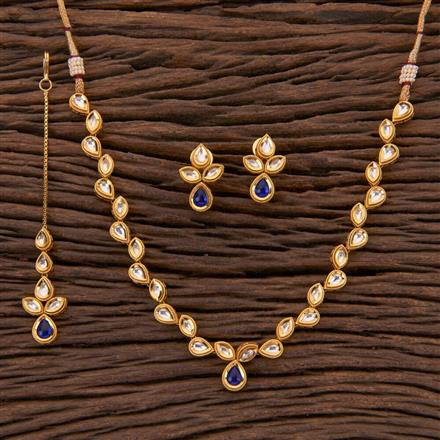 350421 Kundan Classic Necklace With Gold Plating
