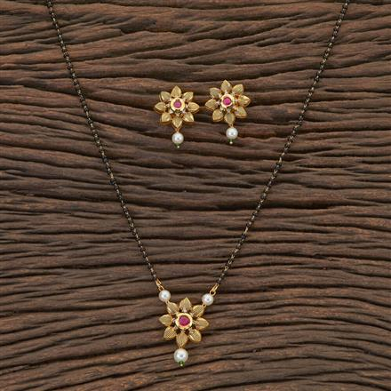 350423 Kundan Classic Mangalsutra With Gold Plating