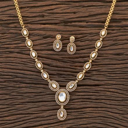 350434 Kundan Classic Necklace With Gold Plating