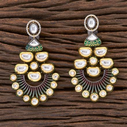 350462 Designer Classic Earring With Black Plating