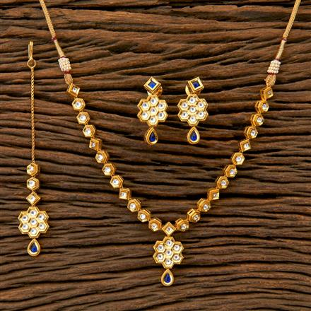 350481 Kundan Classic Necklace with gold plating