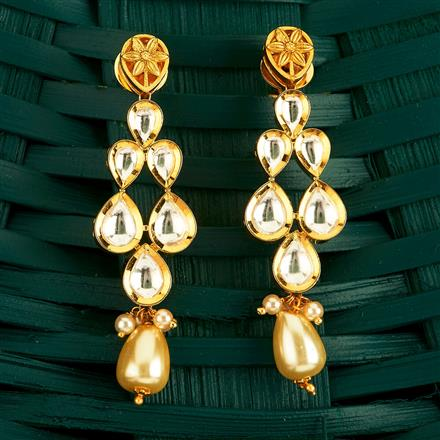 350487 Kundan Classic Earring With Gold Plating